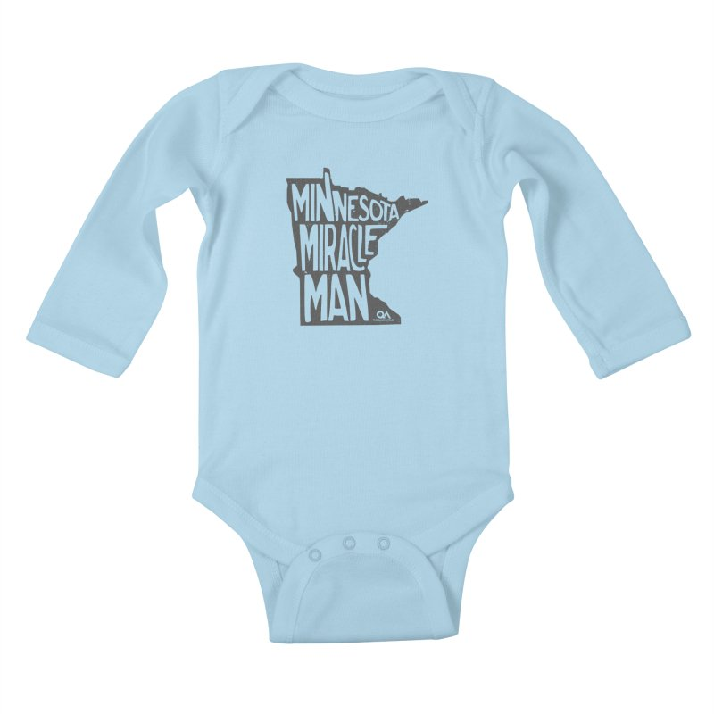 The Minnesota Miracle Man | Light Kids Baby Longsleeve Bodysuit by The Quack Attack