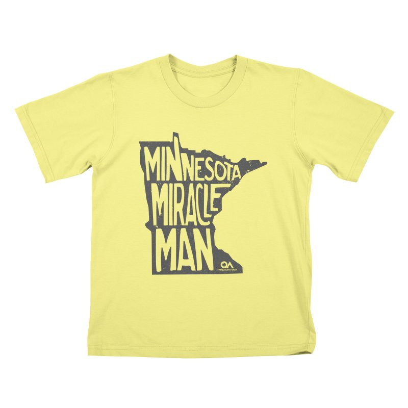 The Minnesota Miracle Man | Light Kids T-shirt by The Quack Attack