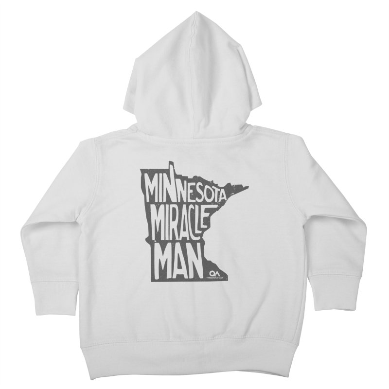 The Minnesota Miracle Man | Light Kids Toddler Zip-Up Hoody by The Quack Attack