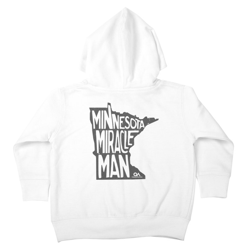 The Minnesota Miracle Man   Light Kids Toddler Zip-Up Hoody by The Quack Attack
