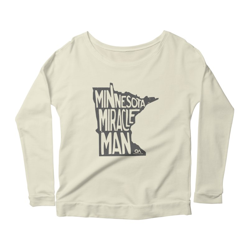 The Minnesota Miracle Man | Light Women's Scoop Neck Longsleeve T-Shirt by The Quack Attack