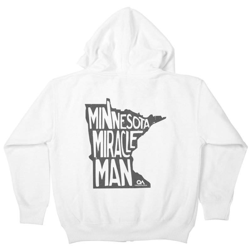 The Minnesota Miracle Man | Light Kids Zip-Up Hoody by The Quack Attack