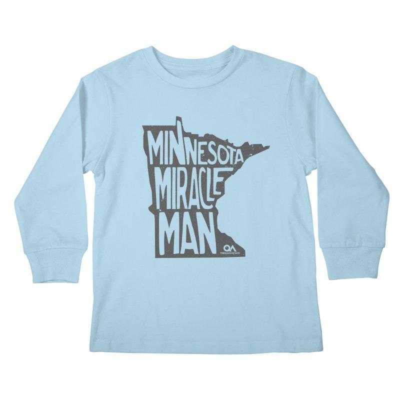 The Minnesota Miracle Man | Light Kids Longsleeve T-Shirt by The Quack Attack