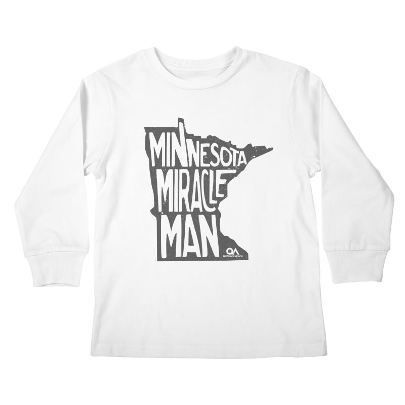 The Minnesota Miracle Man | Light Kids Longsleeve T-Shirt by The Quack Attack