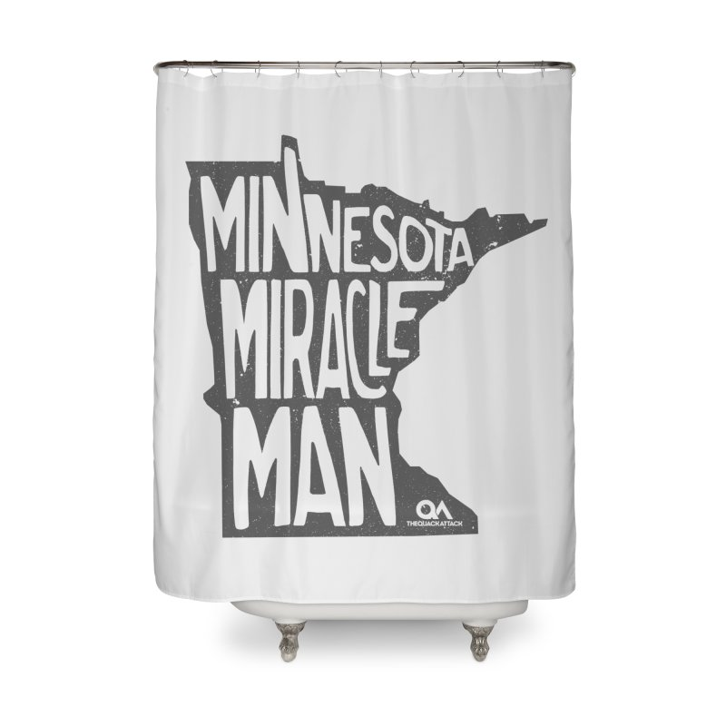 The Minnesota Miracle Man | Light Home Shower Curtain by The Quack Attack