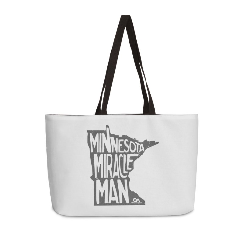 The Minnesota Miracle Man | Light Accessories Weekender Bag Bag by The Quack Attack