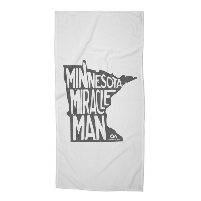 The Minnesota Miracle Man | Light Accessories Beach Towel by The Quack Attack