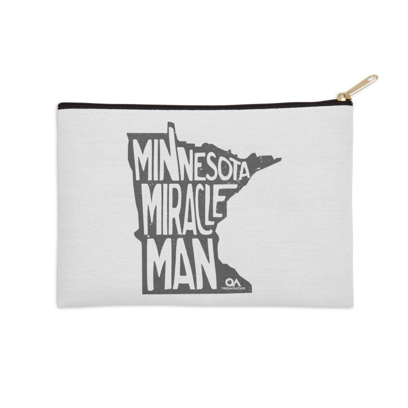 The Minnesota Miracle Man | Light Accessories Zip Pouch by The Quack Attack