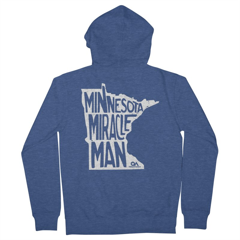 The Minnesota Miracle Man | Dark Women's French Terry Zip-Up Hoody by The Quack Attack