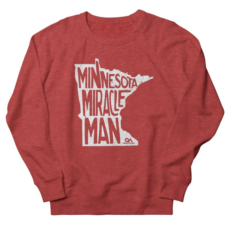 The Minnesota Miracle Man | Dark Men's French Terry Sweatshirt by The Quack Attack