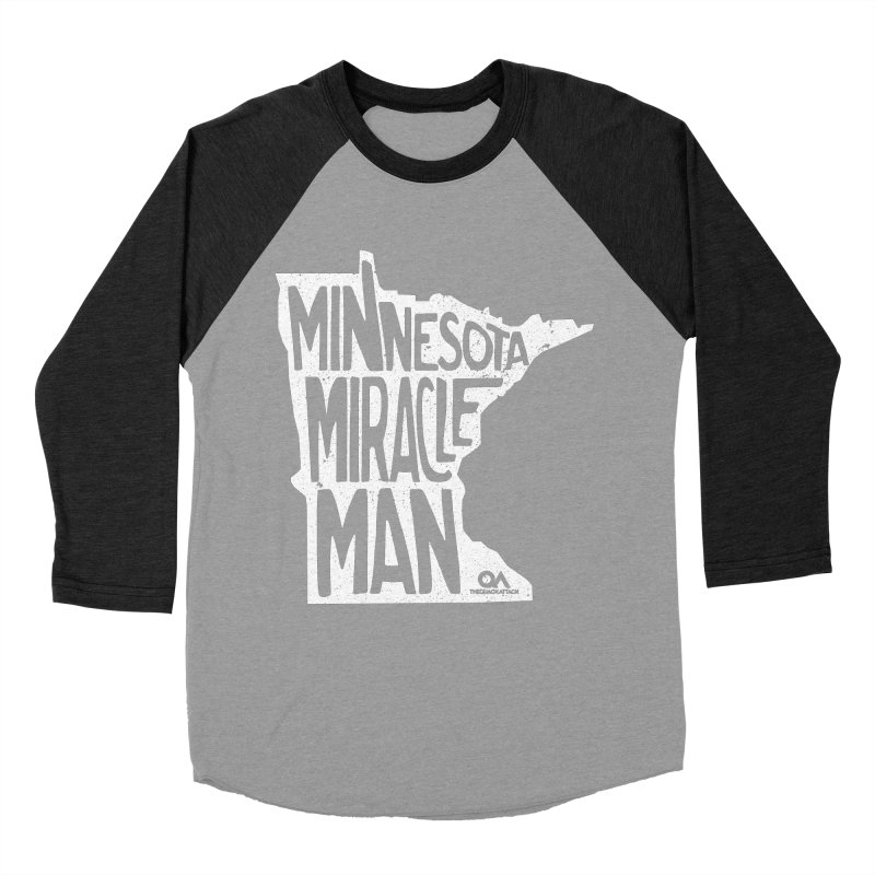 The Minnesota Miracle Man | Dark Men's Baseball Triblend Longsleeve T-Shirt by The Quack Attack