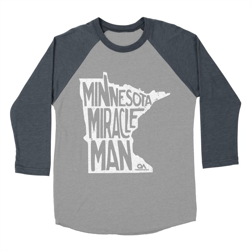 The Minnesota Miracle Man | Dark Men's Baseball Triblend T-Shirt by The Quack Attack