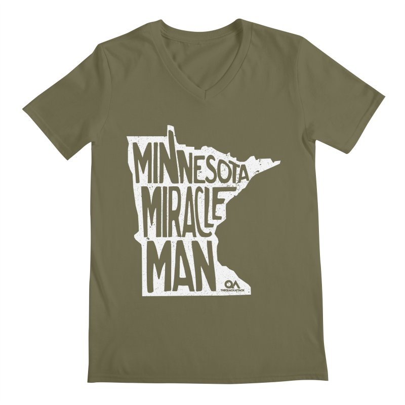 The Minnesota Miracle Man | Dark Men's V-Neck by The Quack Attack