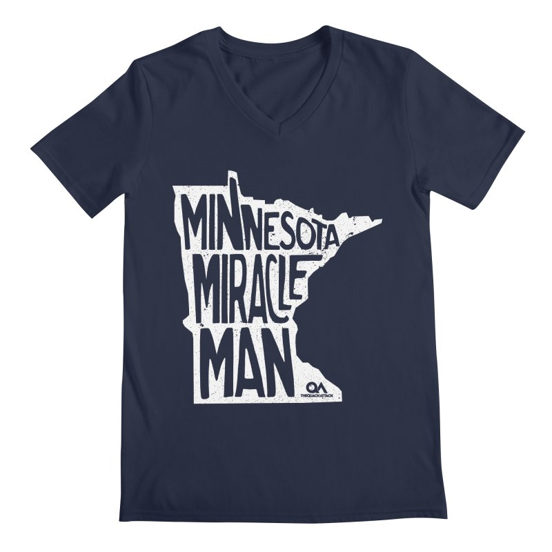 The Minnesota Miracle Man | Dark Men's Regular V-Neck by The Quack Attack