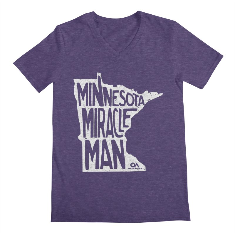 The Minnesota Miracle Man   Dark Men's V-Neck by The Quack Attack