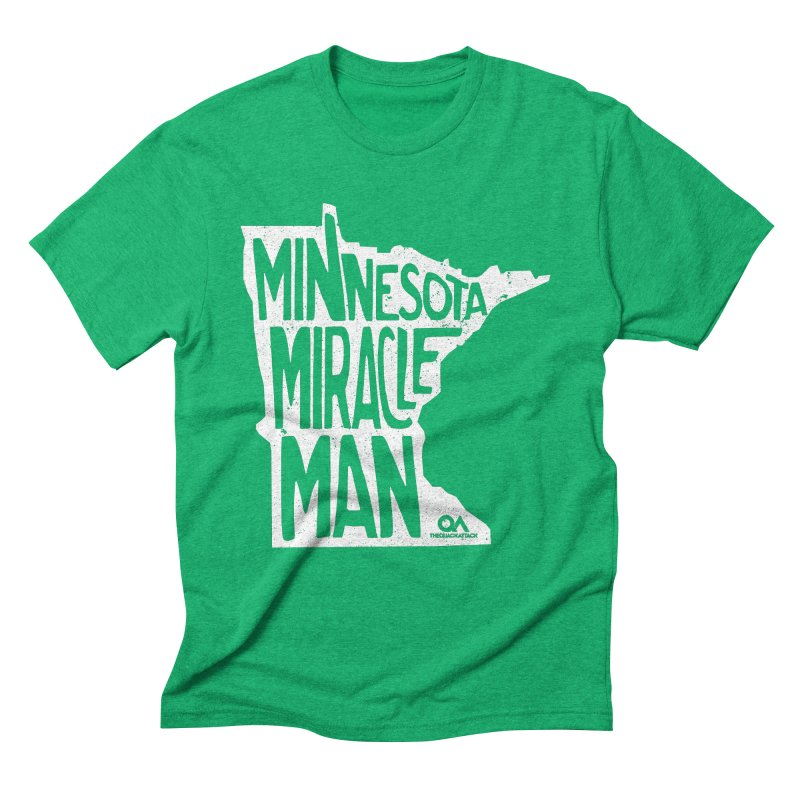 The Minnesota Miracle Man | Dark in Men's Triblend T-shirt Tri-Kelly by The Quack Attack