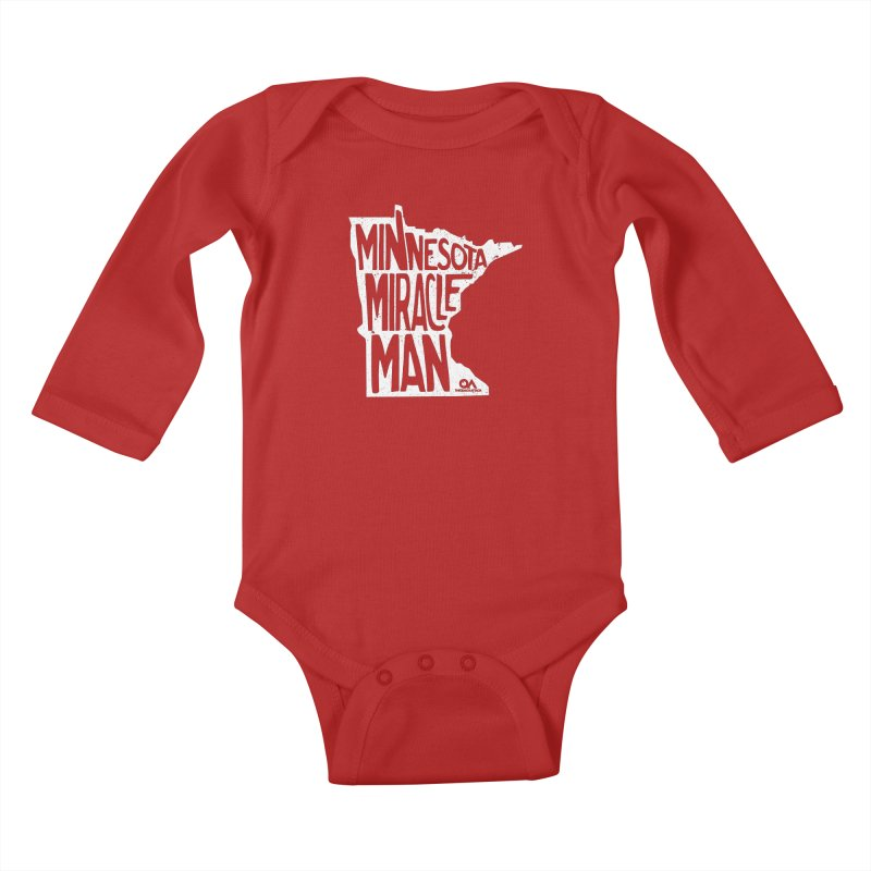 The Minnesota Miracle Man | Dark Kids Baby Longsleeve Bodysuit by The Quack Attack