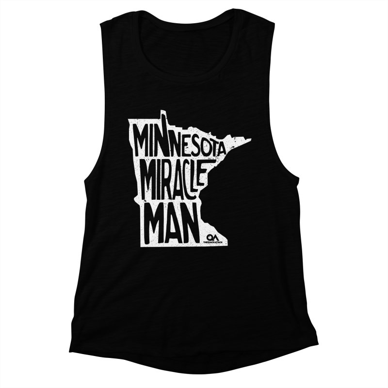 The Minnesota Miracle Man | Dark Women's Muscle Tank by The Quack Attack