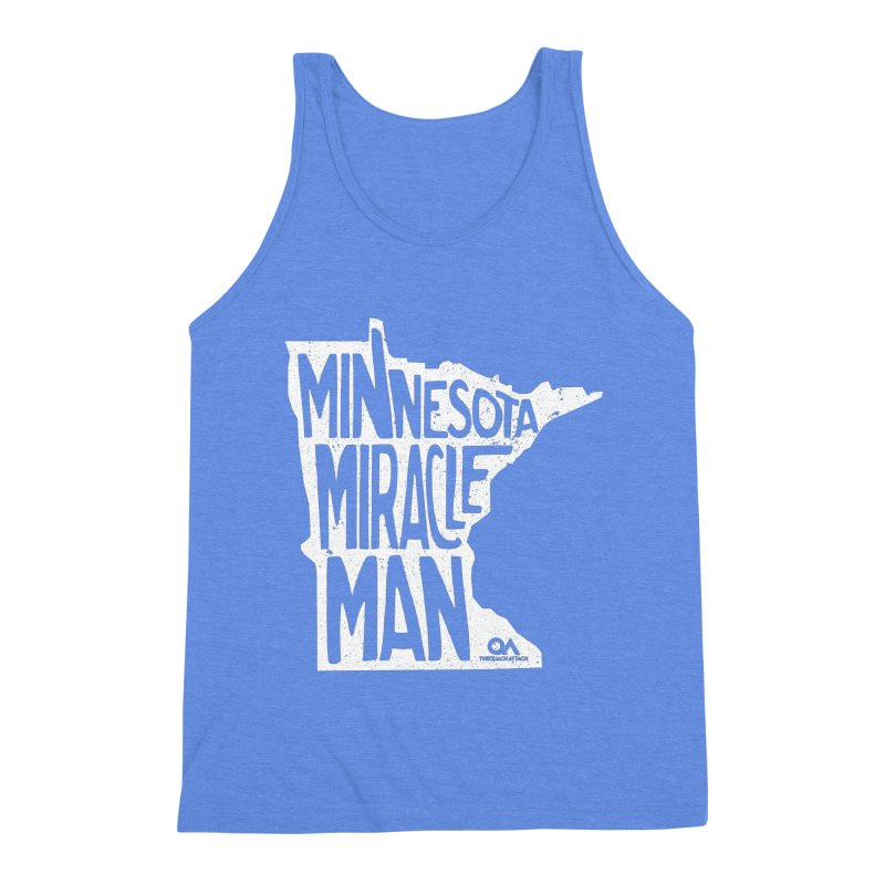 The Minnesota Miracle Man | Dark Men's Triblend Tank by The Quack Attack