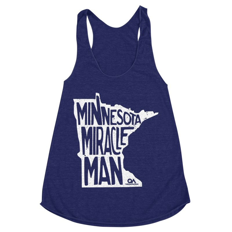 The Minnesota Miracle Man | Dark Women's Racerback Triblend Tank by The Quack Attack