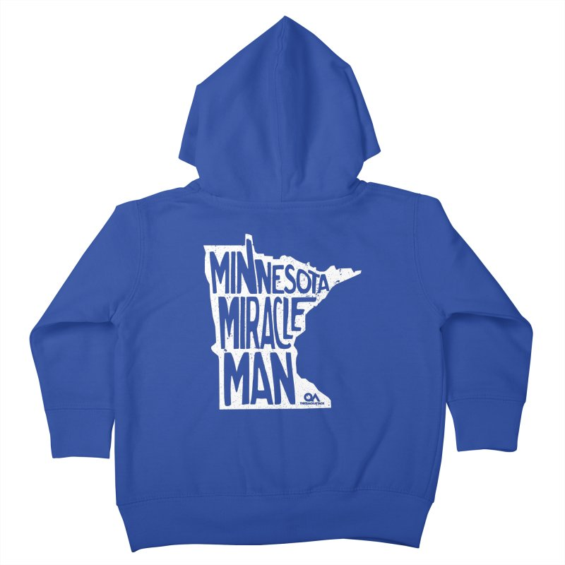 The Minnesota Miracle Man | Dark Kids Toddler Zip-Up Hoody by The Quack Attack