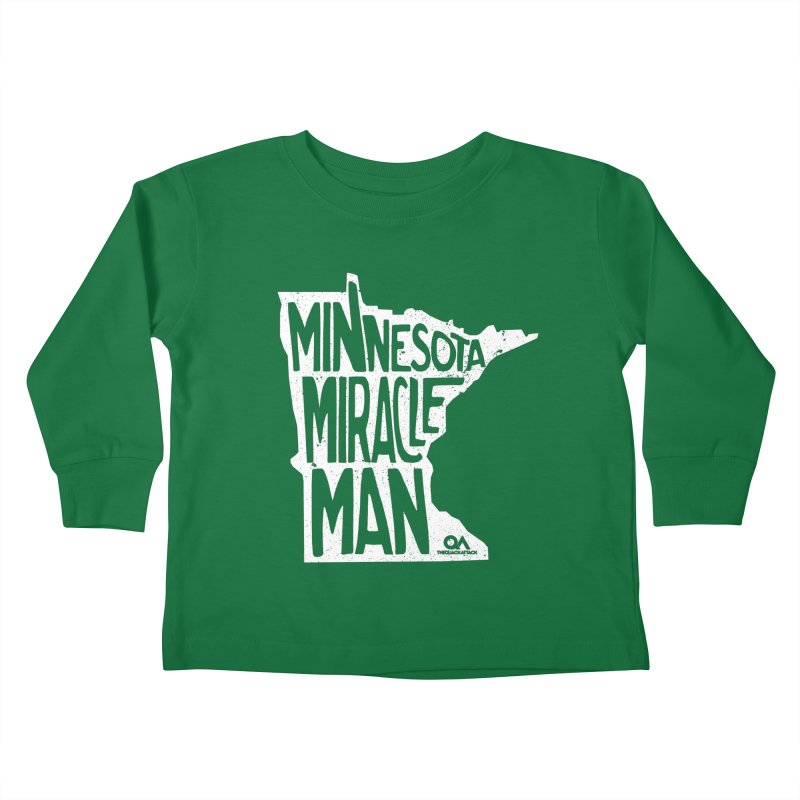 The Minnesota Miracle Man | Dark Kids Toddler Longsleeve T-Shirt by The Quack Attack