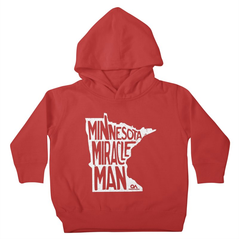 The Minnesota Miracle Man | Dark Kids Toddler Pullover Hoody by The Quack Attack