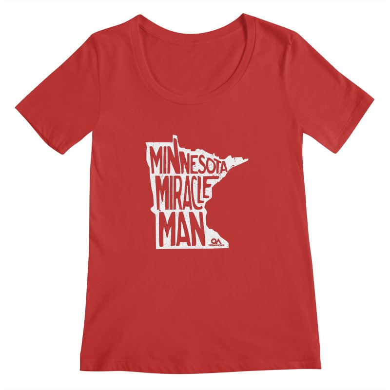 The Minnesota Miracle Man | Dark Women's Regular Scoop Neck by The Quack Attack