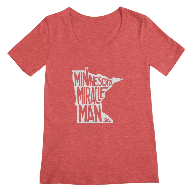The Minnesota Miracle Man | Dark Women's Scoopneck by The Quack Attack