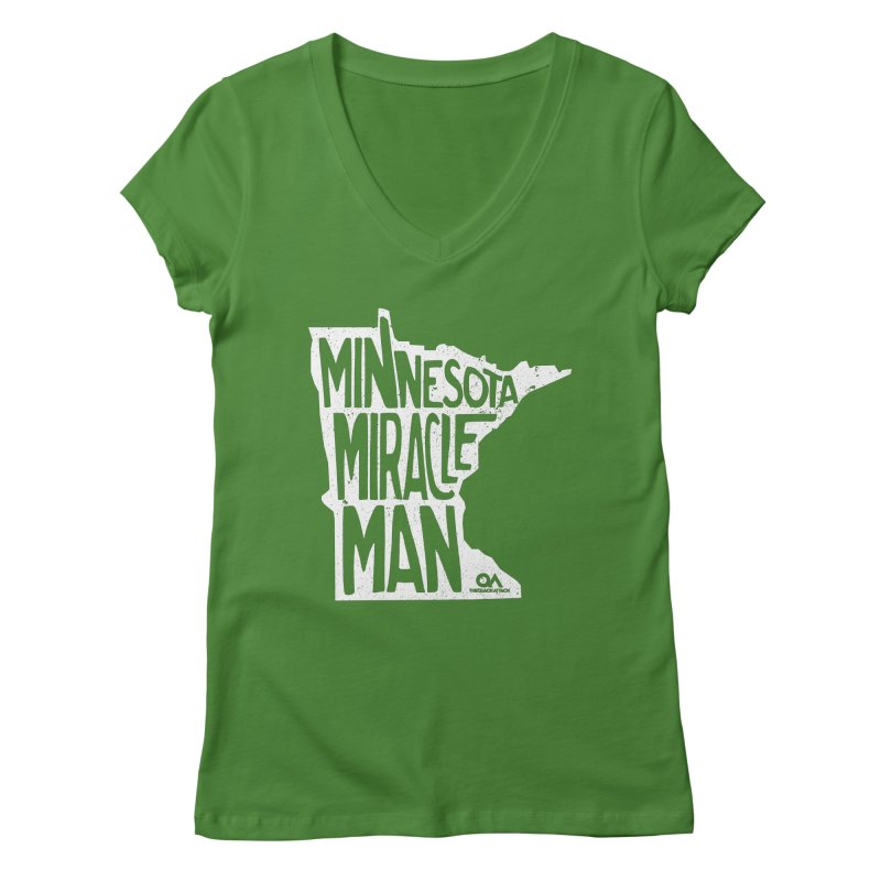 The Minnesota Miracle Man | Dark Women's V-Neck by The Quack Attack