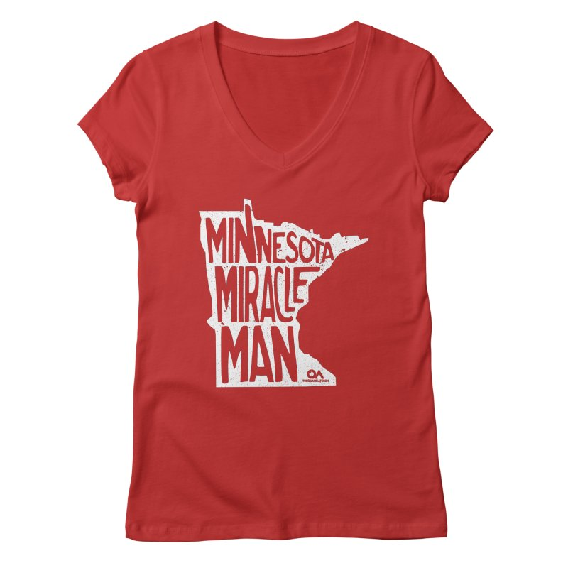 The Minnesota Miracle Man | Dark Women's Regular V-Neck by The Quack Attack