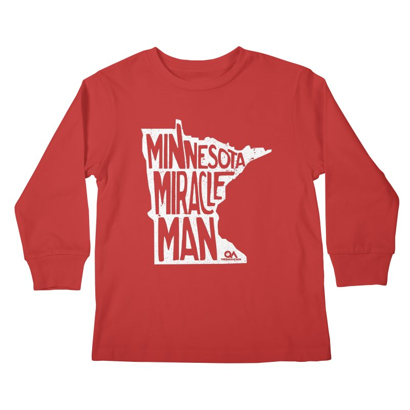 The Minnesota Miracle Man | Dark Kids Longsleeve T-Shirt by The Quack Attack