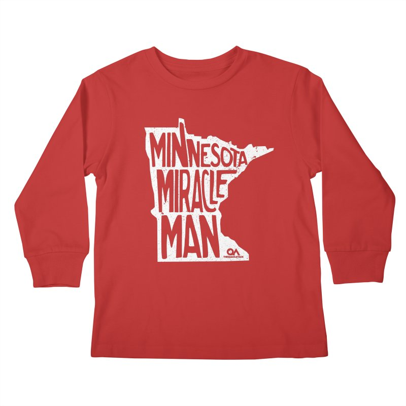 The Minnesota Miracle Man | Dark Kids Longsleeve T-Shirt by The Quack Attack