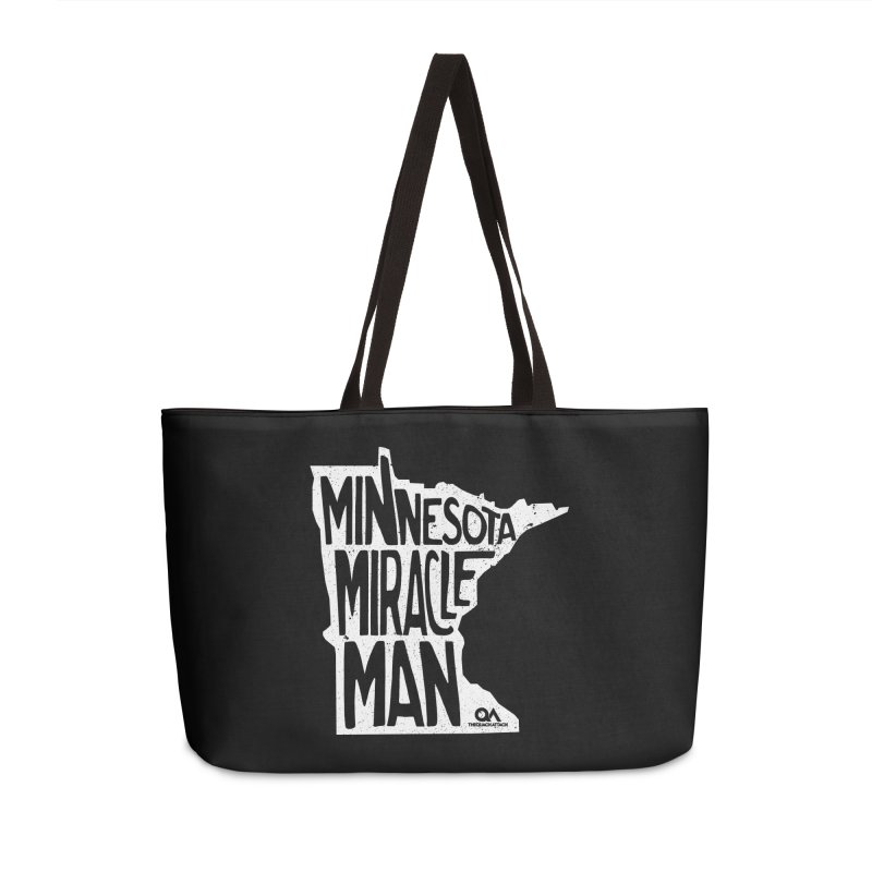 The Minnesota Miracle Man | Dark Accessories Weekender Bag Bag by The Quack Attack