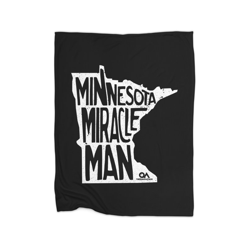 The Minnesota Miracle Man | Dark Home Blanket by The Quack Attack