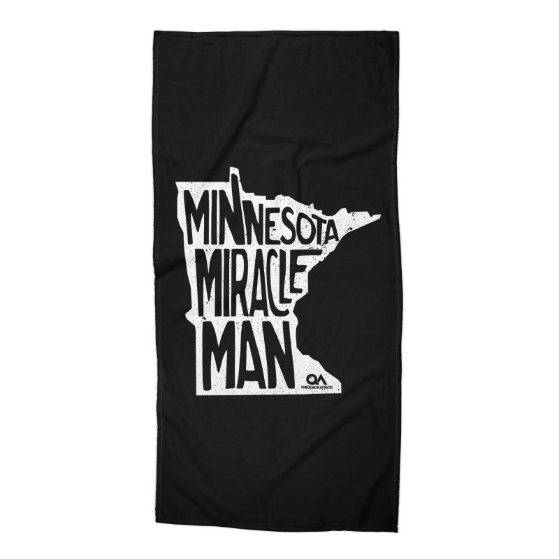 The Minnesota Miracle Man | Dark Accessories Beach Towel by The Quack Attack