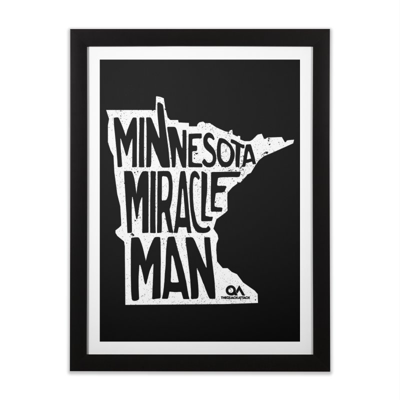 The Minnesota Miracle Man | Dark Home Framed Fine Art Print by The Quack Attack