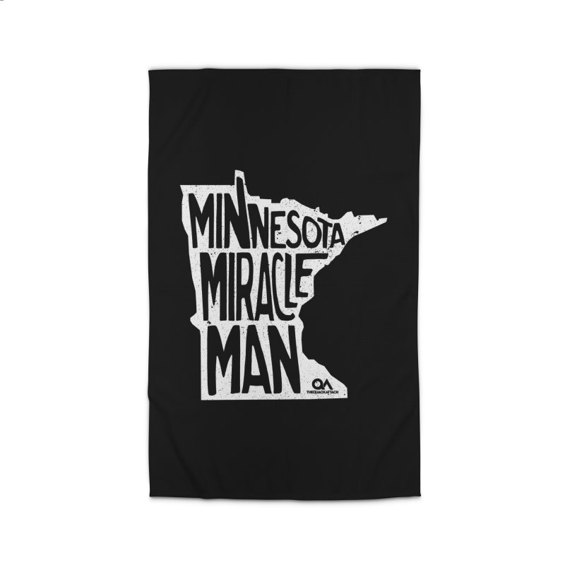 The Minnesota Miracle Man | Dark Home Rug by The Quack Attack