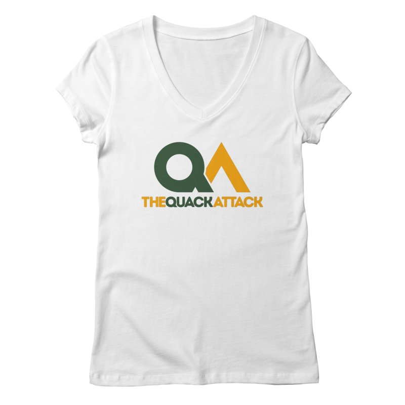 The Quack Attack Women's Regular V-Neck by The Quack Attack