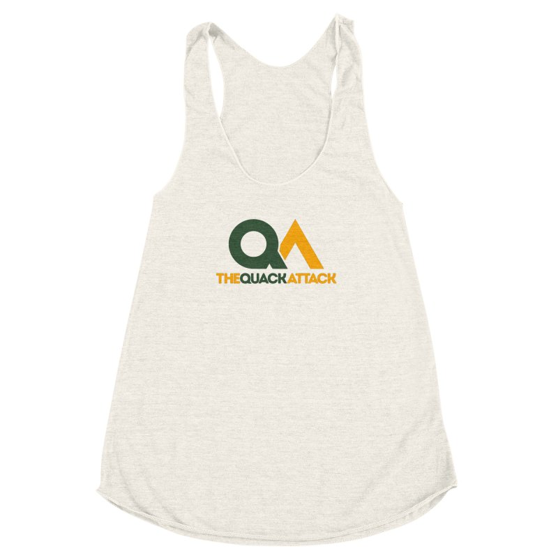 The Quack Attack Women's Racerback Triblend Tank by The Quack Attack