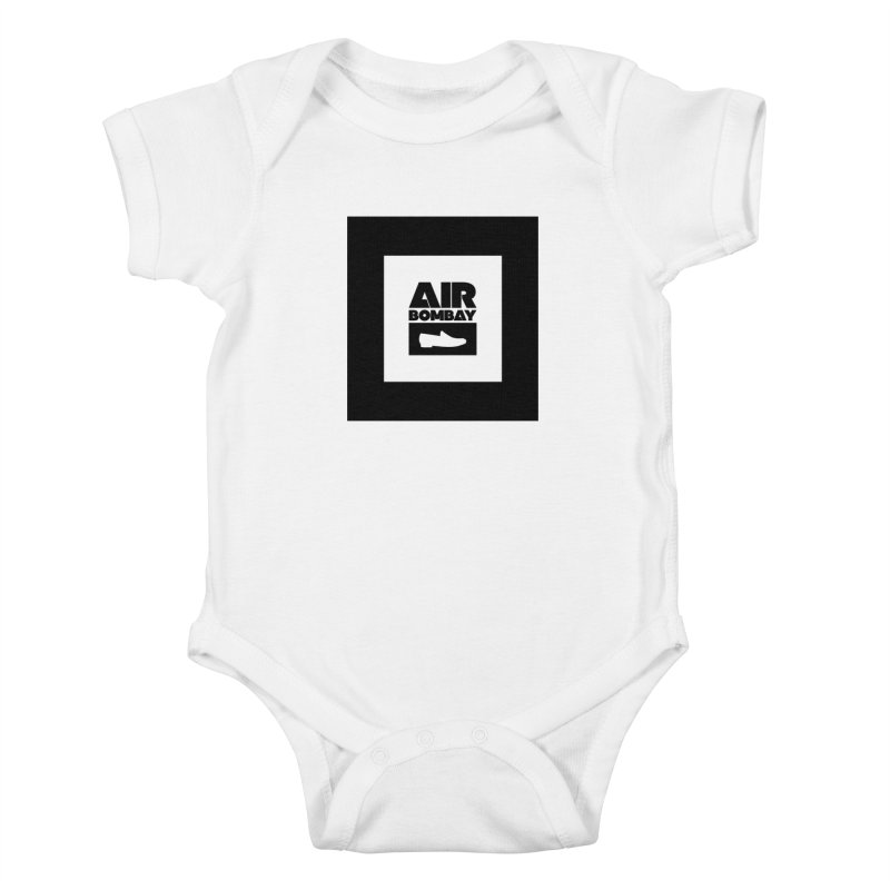 The Air Bombay | Light in Kids Baby Bodysuit White by The Quack Attack