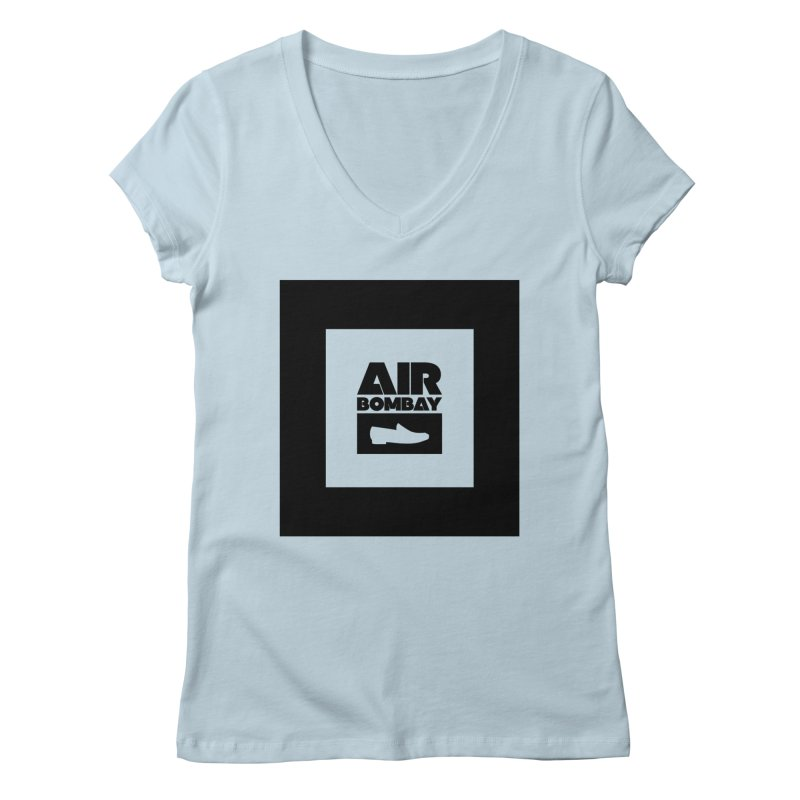 The Air Bombay | Light Women's Regular V-Neck by The Quack Attack