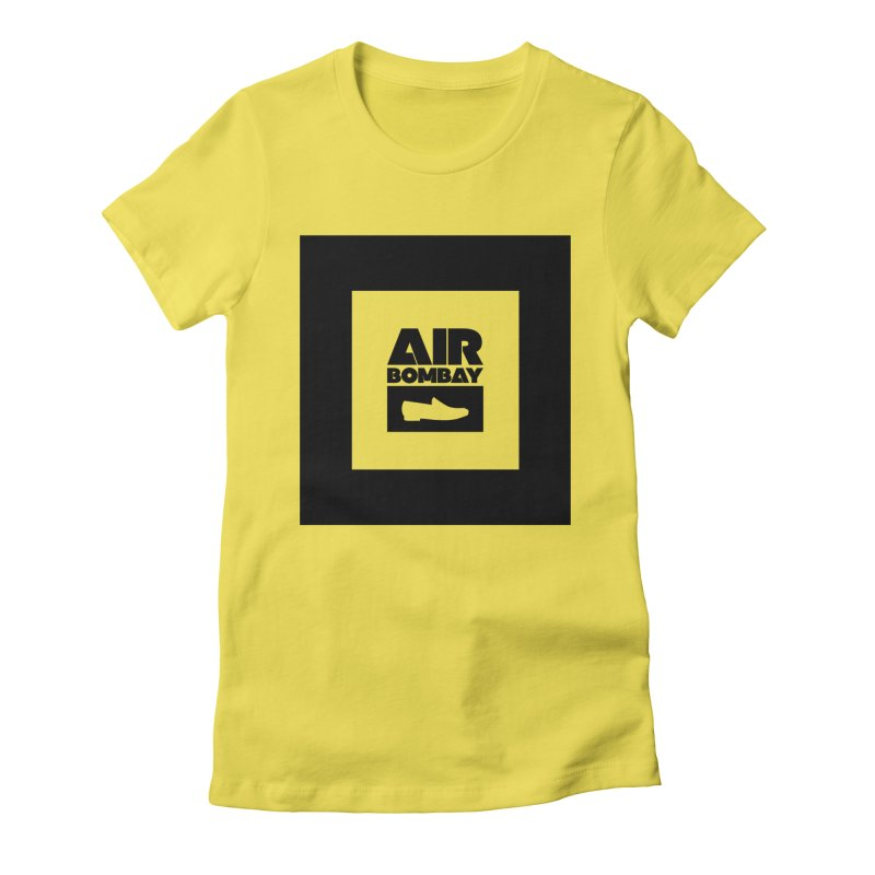 The Air Bombay | Light Women's Fitted T-Shirt by The Quack Attack