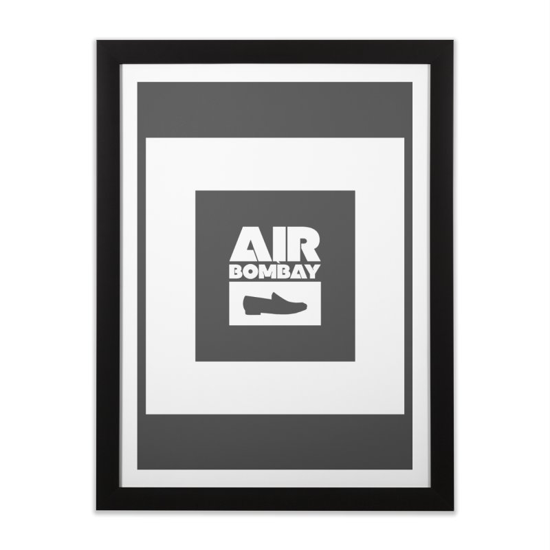 The Air Bombay | Dark Home Framed Fine Art Print by The Quack Attack