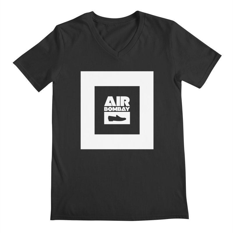 The Air Bombay | Dark Men's Regular V-Neck by The Quack Attack