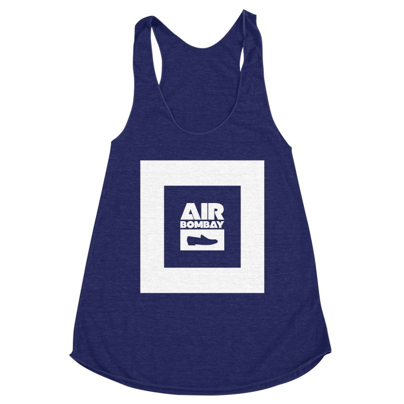 The Air Bombay | Dark Women's Racerback Triblend Tank by The Quack Attack