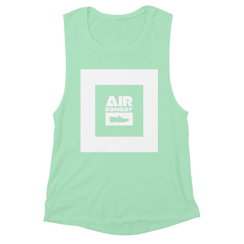 The Air Bombay   Dark Women's Muscle Tank by The Quack Attack