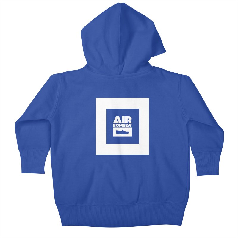 The Air Bombay | Dark Kids Baby Zip-Up Hoody by The Quack Attack