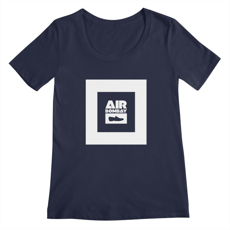 The Air Bombay | Dark Women's Regular Scoop Neck by The Quack Attack