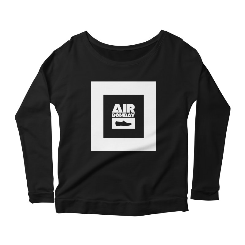 The Air Bombay | Dark Women's Scoop Neck Longsleeve T-Shirt by The Quack Attack